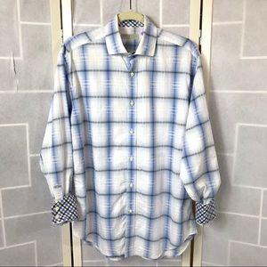 ✂️ Jack Stone plaid reverse cuff shirt